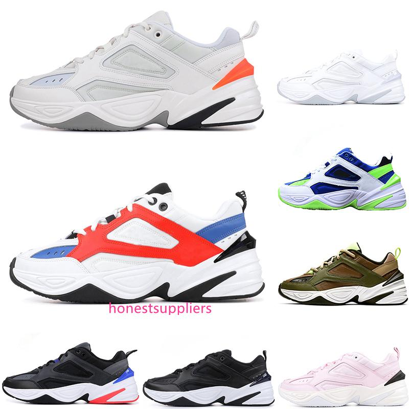 2019 M2K Tekno Dad Sports Men Women Running Shoes Zapatillas John Elliott Paris Phantom Pink Black Volt White Trainers Designer Sneakers