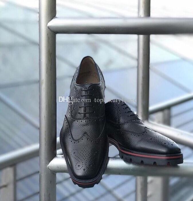 سوبر الجودة الأحمر أسفل الجلود أحذية رياضية الرجال فستان الزفاف حزب أحذية عارضة أحذية الرجال شقة أكسفورد geunine جلدية فاخرة تصميم