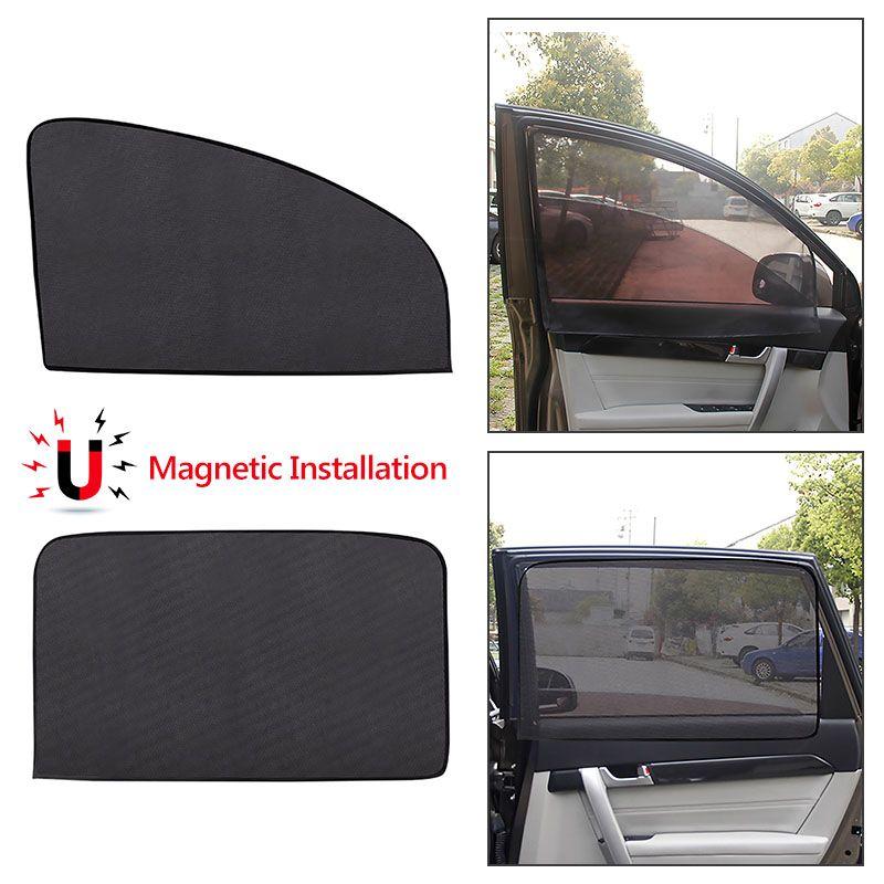 자기 자동차 사이드 윈도우 일 그늘 UV 보호 커튼 여름 메쉬 자동 창 태양 바이 쉴드 양산 보호 필름