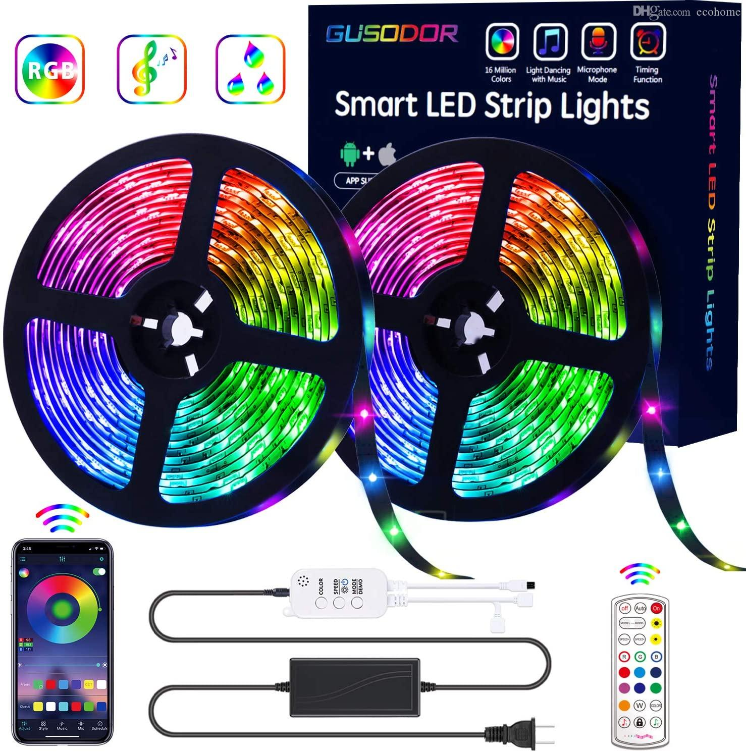 New arrival 5M 10M16.4ft led strips 5050 led strips with APP Control and Mic Mode smart music control RGB led strips