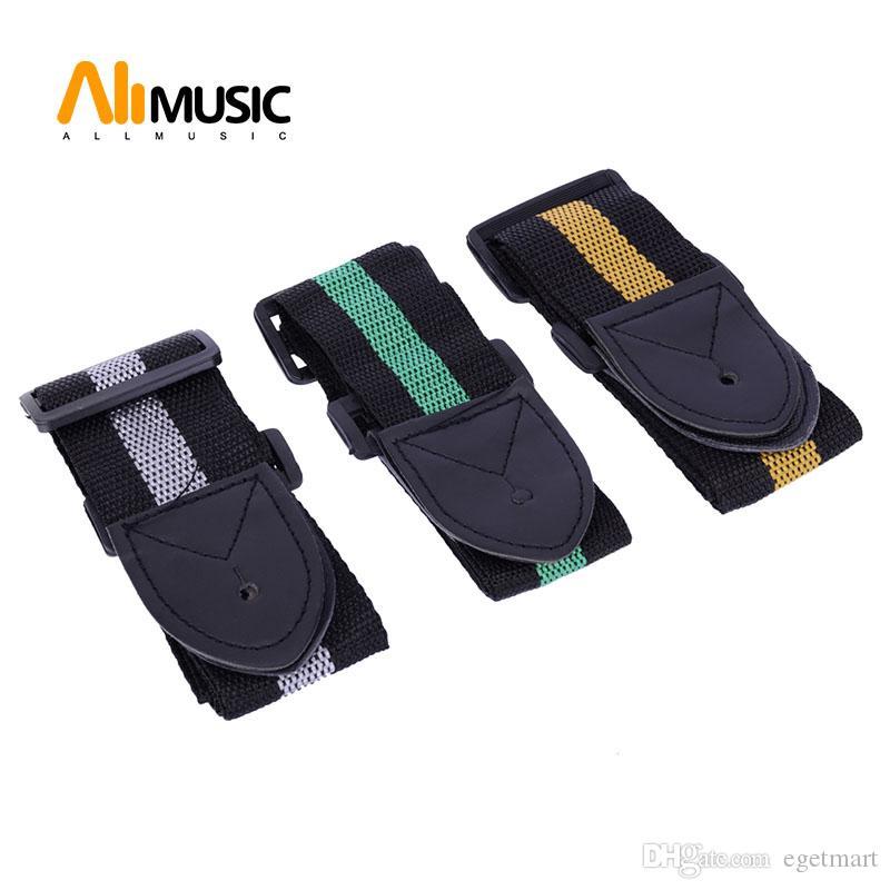 5 stks betaalbare en duurzame nylon lederen gitaarriem riem accessoire willekeurige kleur MU0628