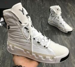 Kanye West Y3 NOCI0003 Kırmızı Beyaz Siyah Yüksek Üst Erkekler Sneakers Su geçirmez Gerçek Deri Y3 Günlük Ayakkabılar Botlar G55