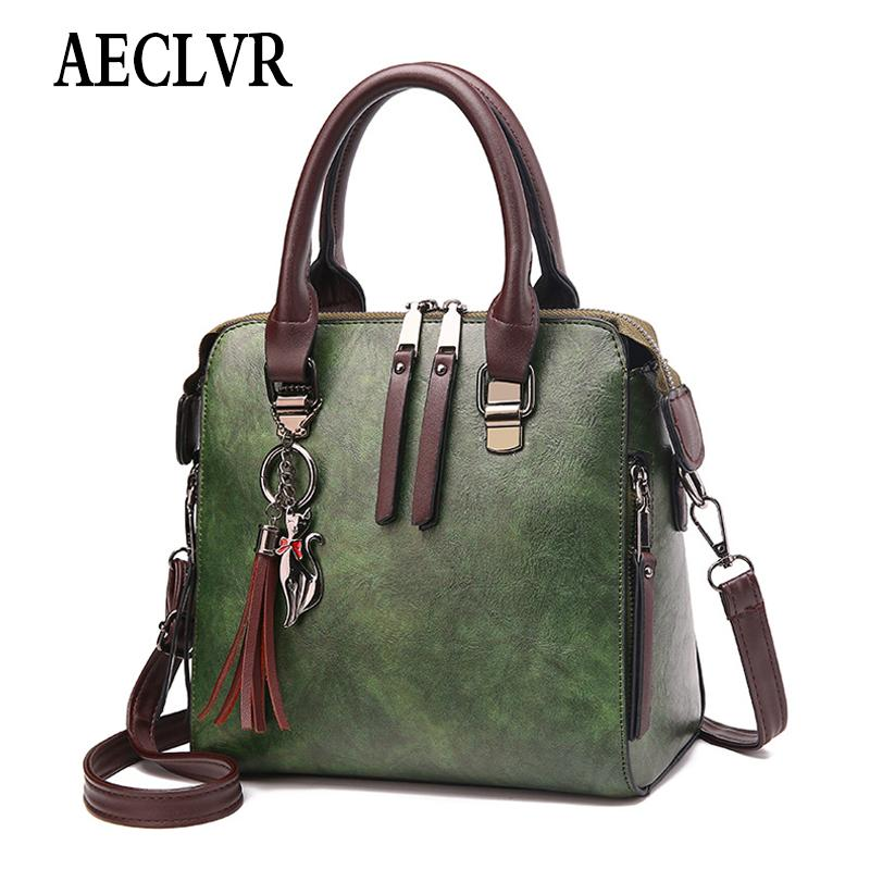 AECLVR Solid Fashion Women Shoulder Bag Fur Ball Cute Cat Handbag Soft PU Leather Tote Bags Ladies Large Shopping Crossbody Bags
