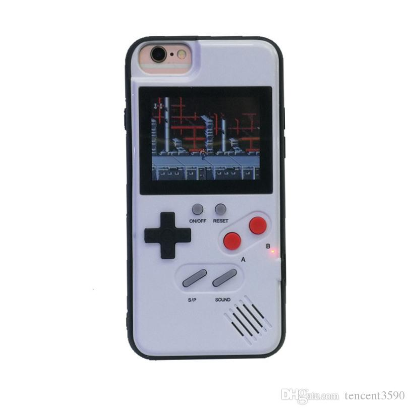 Mini handheld game consoles silicon phone case 36 games player For iphone11 pro max 6 7 8 8plus XS Max Xr S10 Note10 plus protective cover