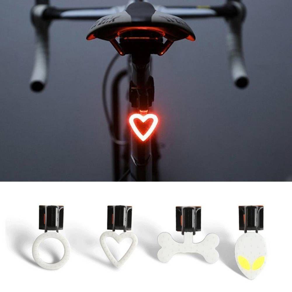 DEL Rechargeable Vélo Cyclisme Avant Arrière Queue Lampe Avertissement Lumière Flash C