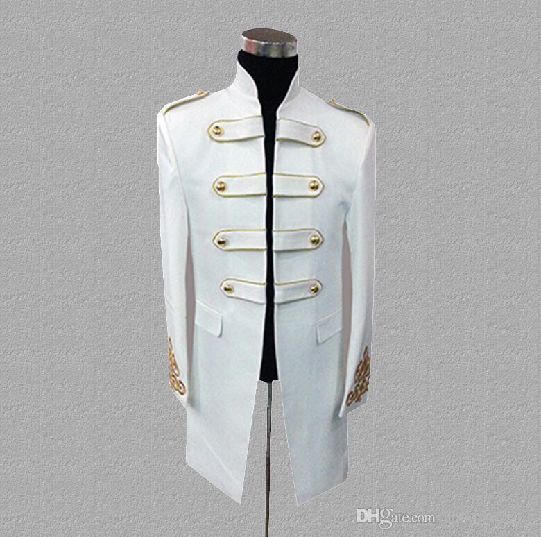 palace blazer men suits designs jacket mens stage costumes for singers clothes dance star style dress punk rock black white
