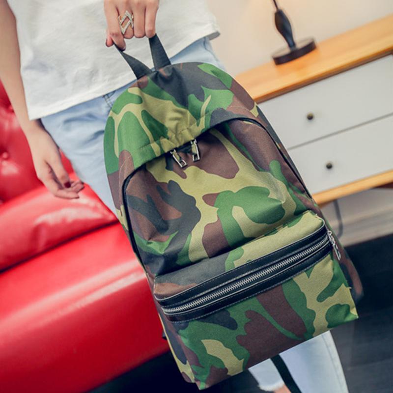 Mochila moda mujer mujer lienzo banda escolar bolsa de viaje satchel mochila