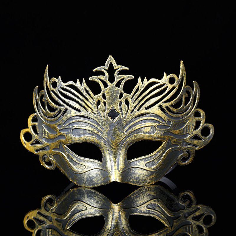 Máscaras Romano Soldado masculino Filigrana Corte láser Hombres veneciana ojo del partido Máscaras de Halloween Cosplay boda carnaval bola una