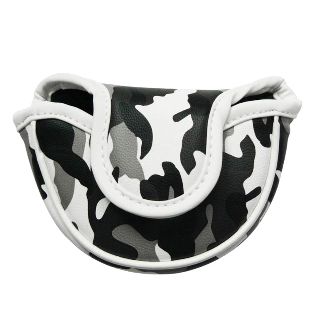 Golf Club pequeño mazo Putter Protección cabeza cubierta, centro del eje Cubierta Protector de cabeza magnética Cierre golfistas Accesorios - Camo Estilo