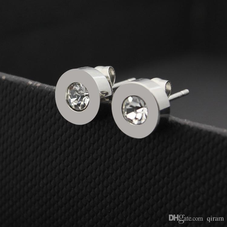 Heiße Verkauf Art und Weise Marke Titan Stahl B Brief Liebe Ohrringe für Frau Schmuck 18k vergoldetes Silber / rosa Farbe breit für Frau Geschenk