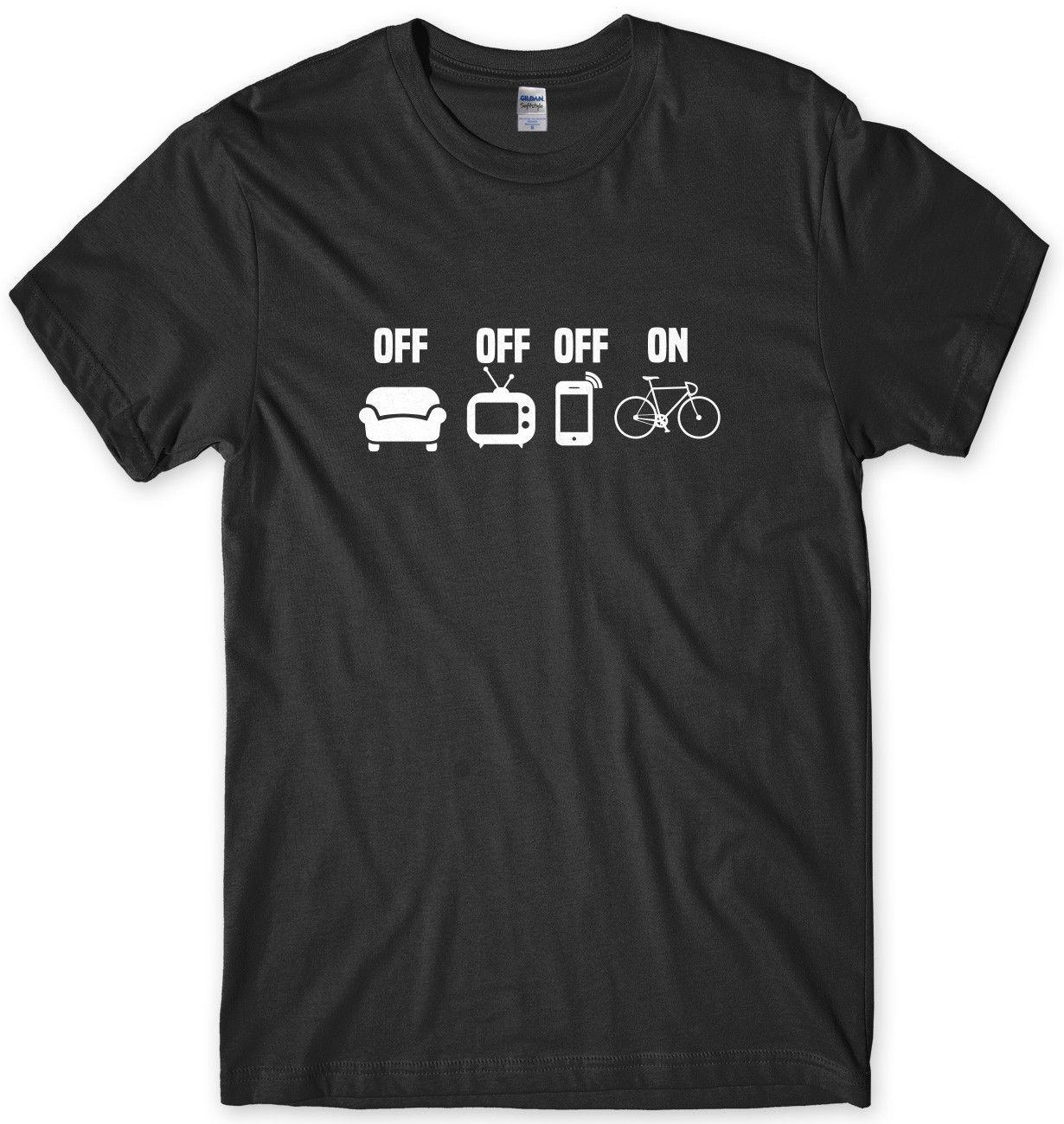 TV Off Phone Off Bike On Cycling Mens Funny Unisex T-Shirt