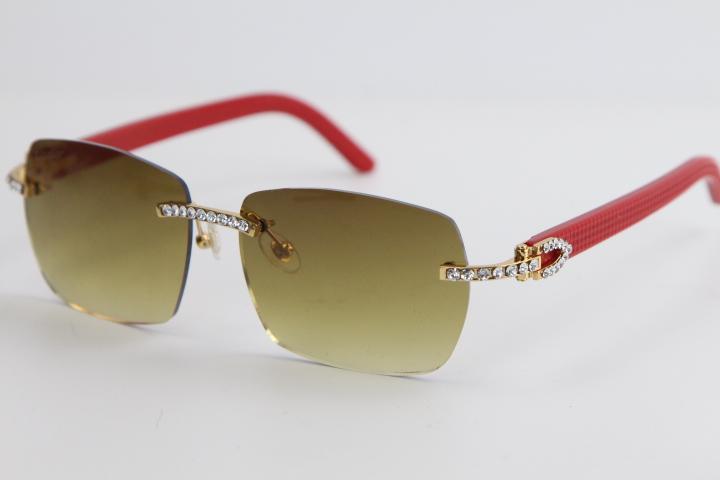 2020 Новый завод Оптовая Rimless металла Plank Смешать Большие камни Солнцезащитные очки 8100905 Солнцезащитные очки мужские и женские очки высокого качества