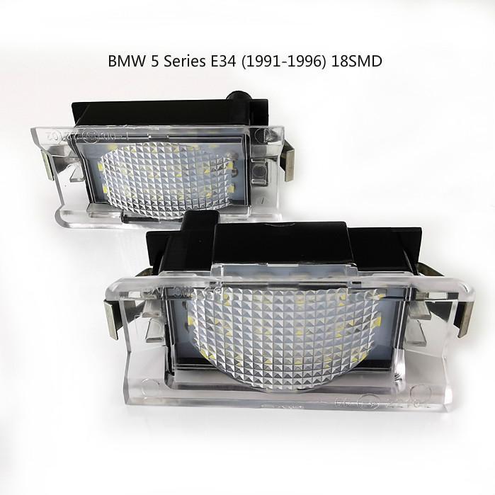 la matrícula del LED de coches Lámparas para BMW Serie 5 E34 (1991-1996) número de matrícula 18SMD del precio de fábrica llevó la luz 12V 6000K