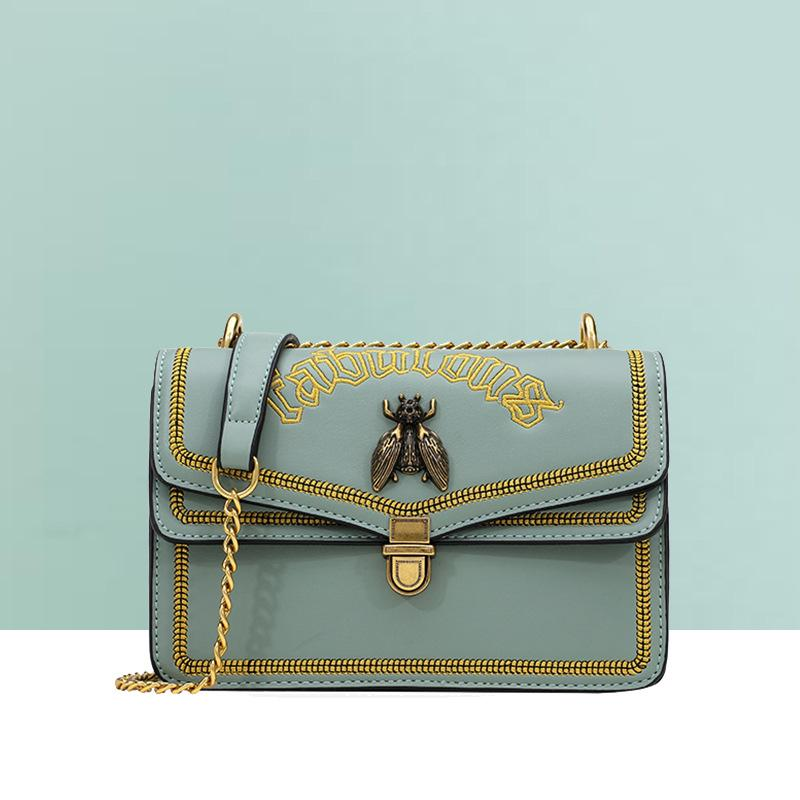 Bolso femenino 2020 nuevo estilo moda miel bolso cuadrado Sling cadena textura hombro/bandolera