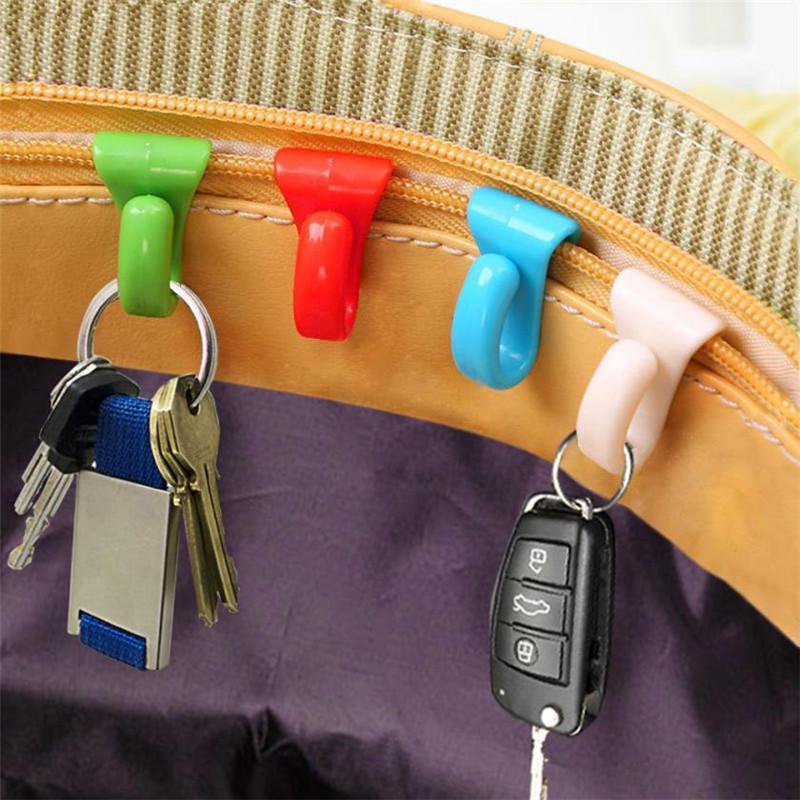 محفظة 6pcs حقيبة الداخلية المعلقون حلقة مفتاح سلسلة حامل هوك متعدد Funtion ولمكافحة خسر حقيبة الكتف المنظم الرف أدوات حامل # B10