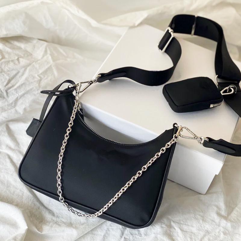 2020 высокого качества женских сумок Crossbody кошельков марочные сумок повелительницы Tote 2005 мешок плеча нейлона канал бродяга моды вещевой мешок розового