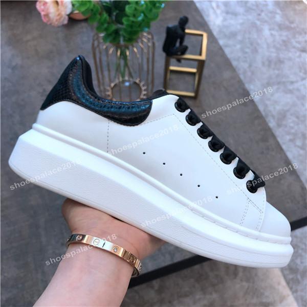 Mavi Siyah Womens Moda Akıllı Platform Ayakkabı Düz Casual Lady Taş Desen Casual Sneakers Parlak Floresan Beyaz Ayakkabı Yürüyüş