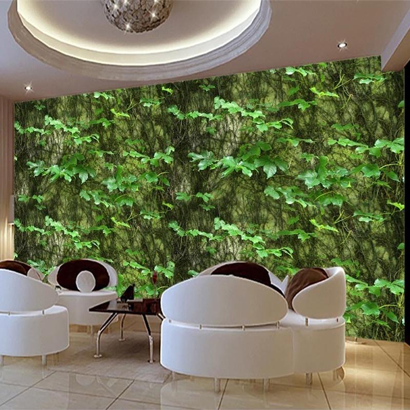 수송선 사용자 정의 3D 사진 배경 화면 녹색 잎 등반 타이거 덩굴 추상 미술 벽화 배경 장식 벽화 벽지 벽 데칼