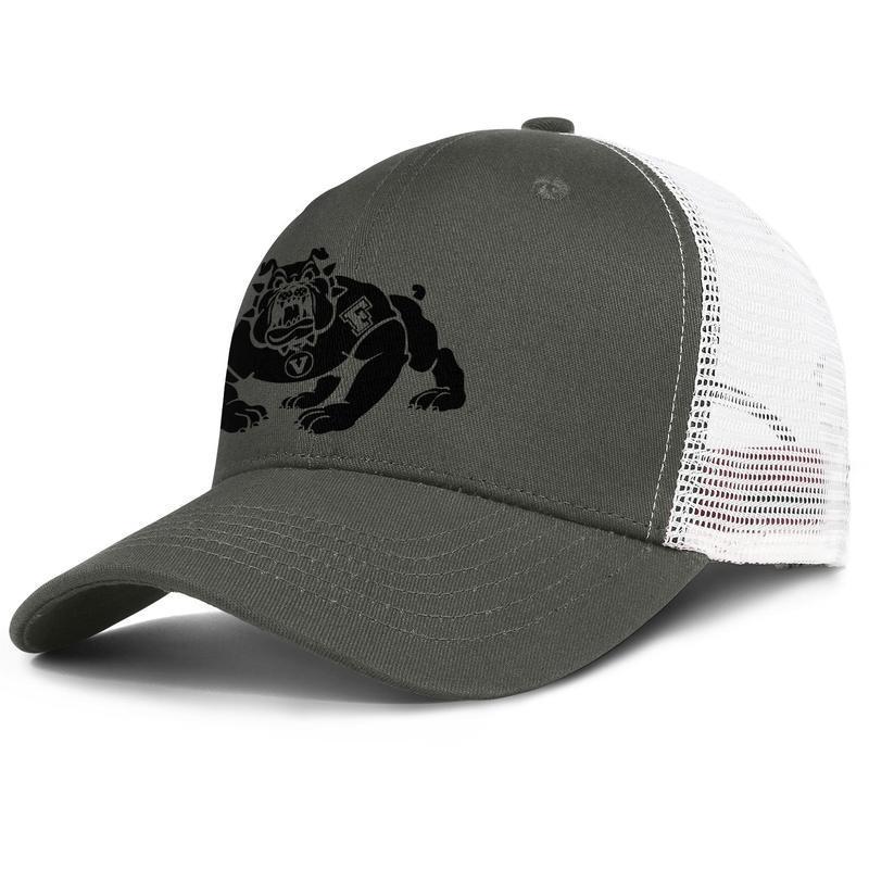 Mens Retro Cap Fresno State Bulldogs Fußball schwarz-Logo der Frauen Klassische Ventilation Angeln Caps Kokosnussbaum Tarnung Homosexuell Stolz USA