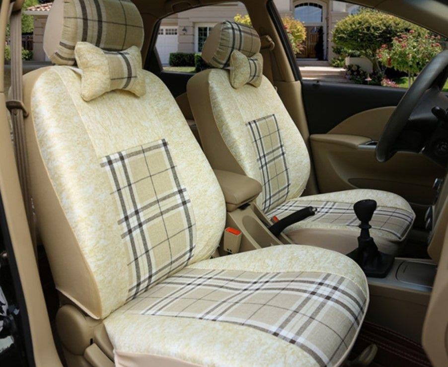 Белье Ткань для автомобилей чехлов сидений для VW Volkswagen Атласа чехлы на сиденья Аксессуары Установить Автомобили Сиденья Подушка Supports