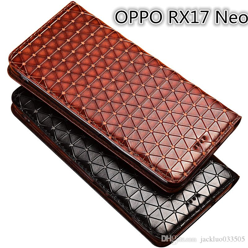 Genuine Leather Case For OPPO RX17 Neo Cover Magnetic Case For OPPO RX17 Neo Flip Case Leather Cover With Card Slot