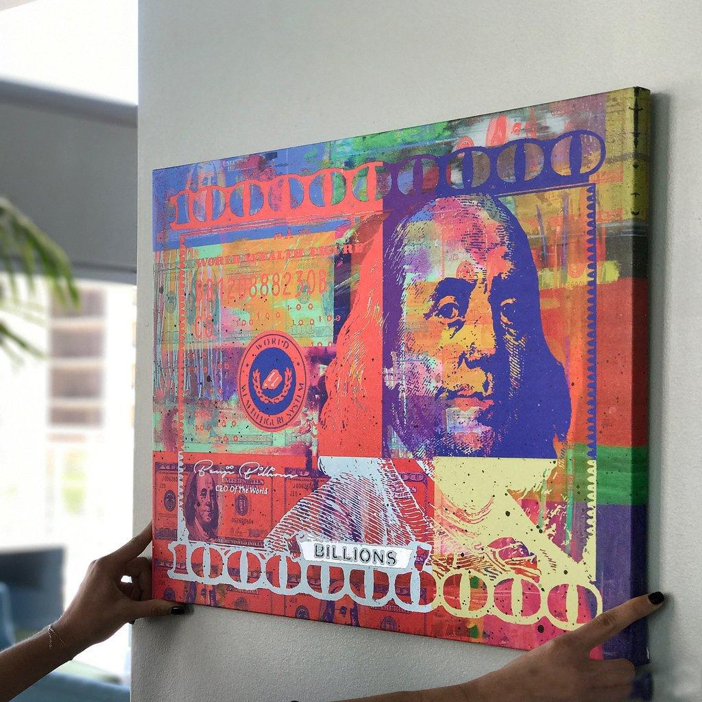 "Alec Monopoly ""Benji Billions"" Home Decor Handpainted &HD Print Oil Painting On Canvas Wall Art Canvas Pictures 200517"