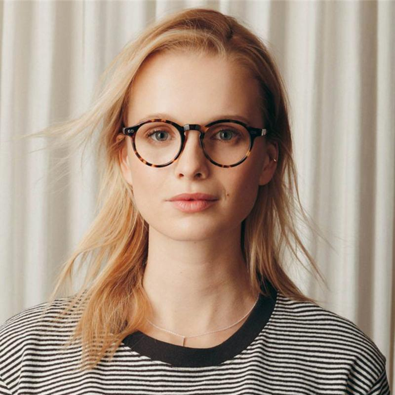 Wholesale-Round retro Small Acetate frame optical eyeglasses frames glasses frame women men myopia spectacles prescription SH190919