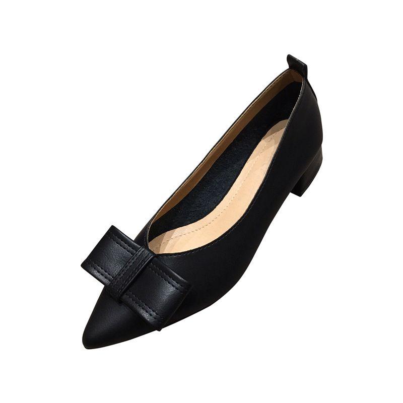 Heels Ladies Shoes Low Heel Pointed Shoes Women Work Mary Jane Shoes Woman Elegant Square Heels Women Sandal