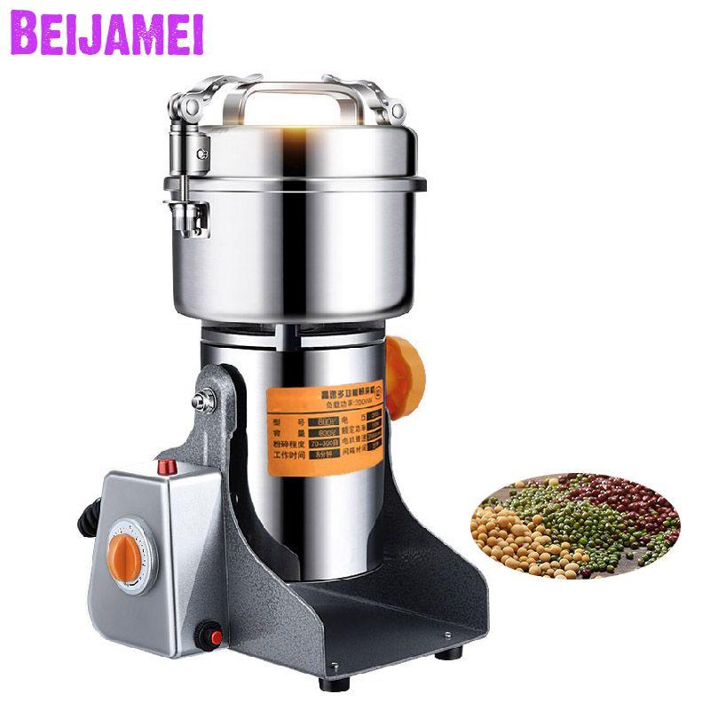 Beijamei Promoción 800g Swing Electric Dry Food Grinder Granos Polvo Molino Máquina Hogar Especias Cereales Crushe