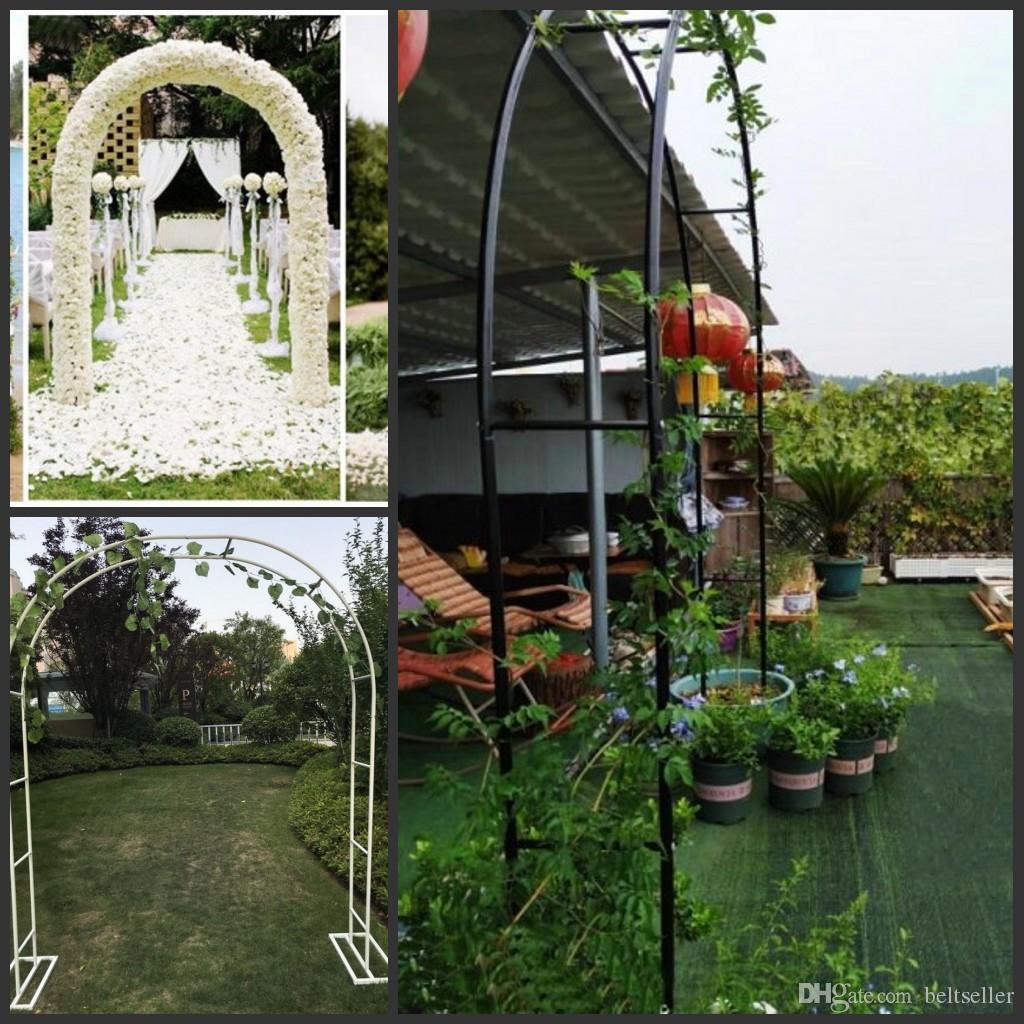 Bianco colore nero U Wedding Arch Sfondo Ferro Battuto scaffale di metallo Flower Frame Per Matrimonio festa di compleanno della decorazione di DIY Arco