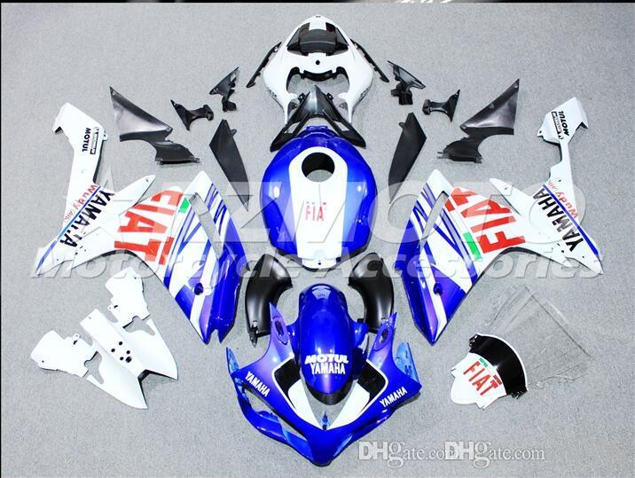 3 gifts New Injection ABS Fairing kits 100% Fit for YAMAHA YZFR1 07-08 YZF R1 2007-2008 YZF1000 bodywork color white Blue P1