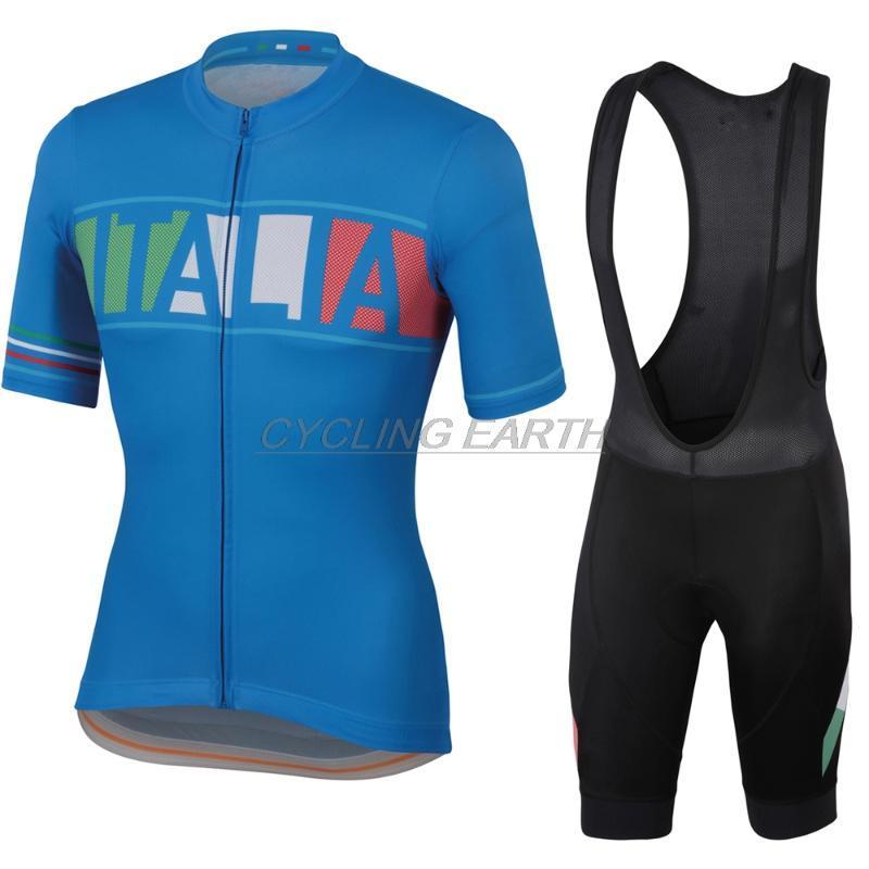 ITALIA 2020 Maillots Conjunto Hombres ropa del verano de la manga corta Ropa de Ciclismo Maillot ropa de ciclo de la bicicleta del babero