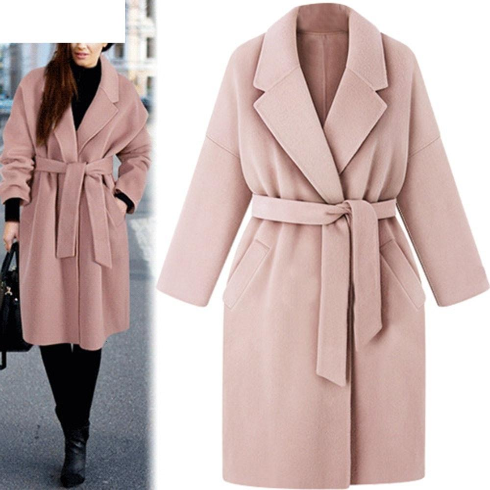 JAYCOSIN 2018 de Moda de Nova roupa morna do inverno Womens lapela casaco de lã Trench Jacket soltas Lace Overcoat Outwear 18OCT25 T190914