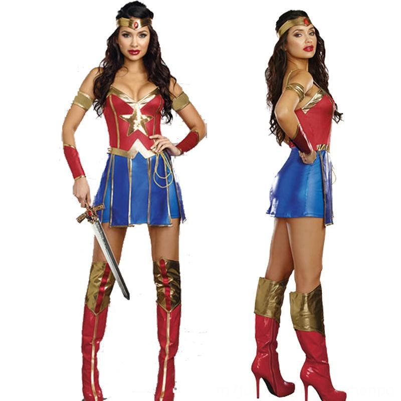 2019 New Halloween Sexy Costumes Costumes & Cosplay sexy surprise captain female Superman magic heroine role play clothes