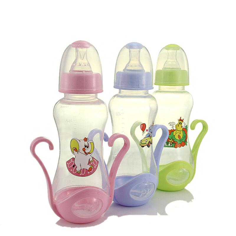 2020 240ml Baby Bottle Kids Children Learn Feeding Bottle Drinking Water Milk Glass Cartoon Cute Baby Feeding From Vingner 34 45 Dhgate Com