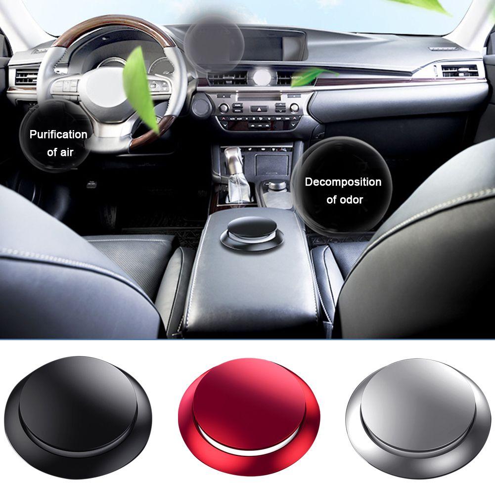 Zubehör Auto-Duftstoff Ätherisches Öl Scent Plattenform Aroma Lufterfrischer Auto Stilvolle Metall Duft Diffusor