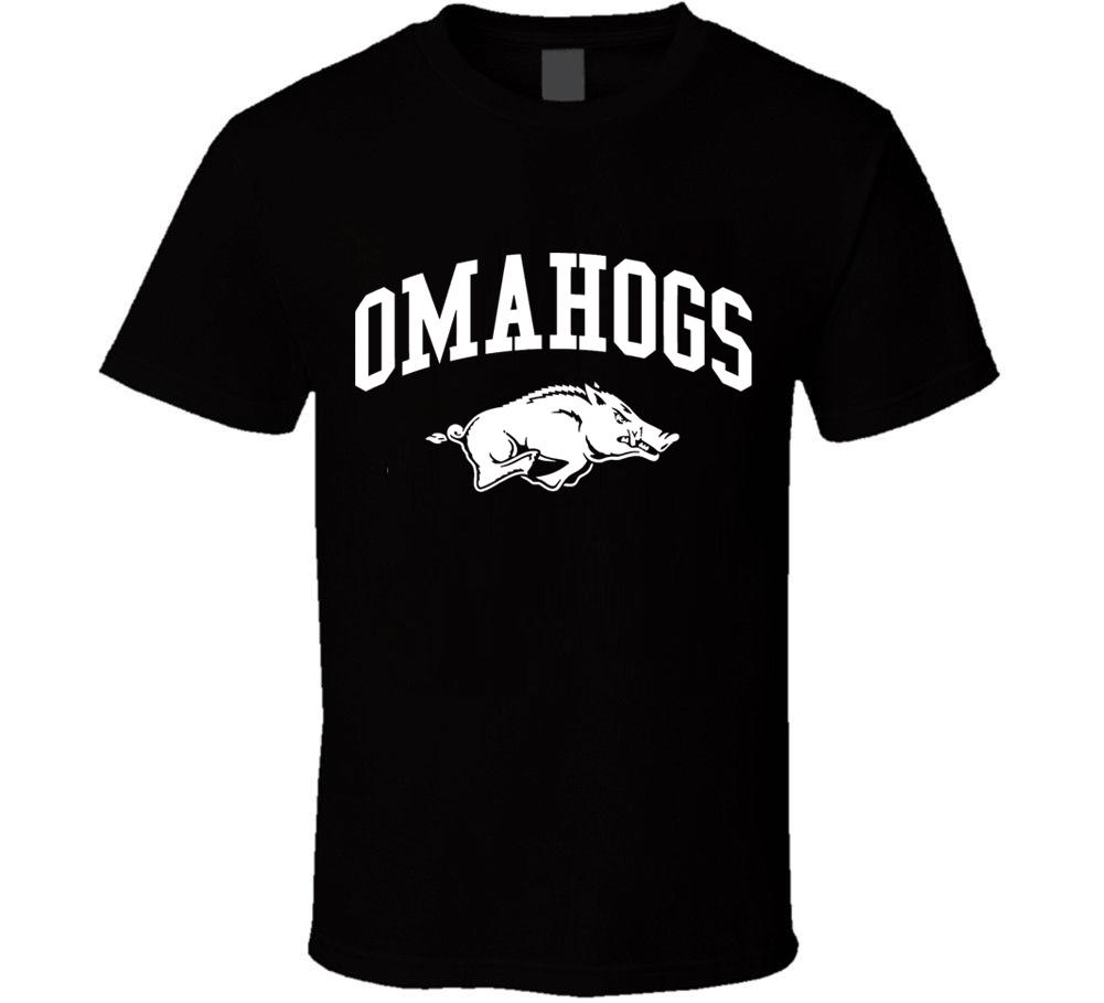 "Arkansas Razorbacks Baseball /""OMAHOGS/""  T-shirt  2019 College World Series"
