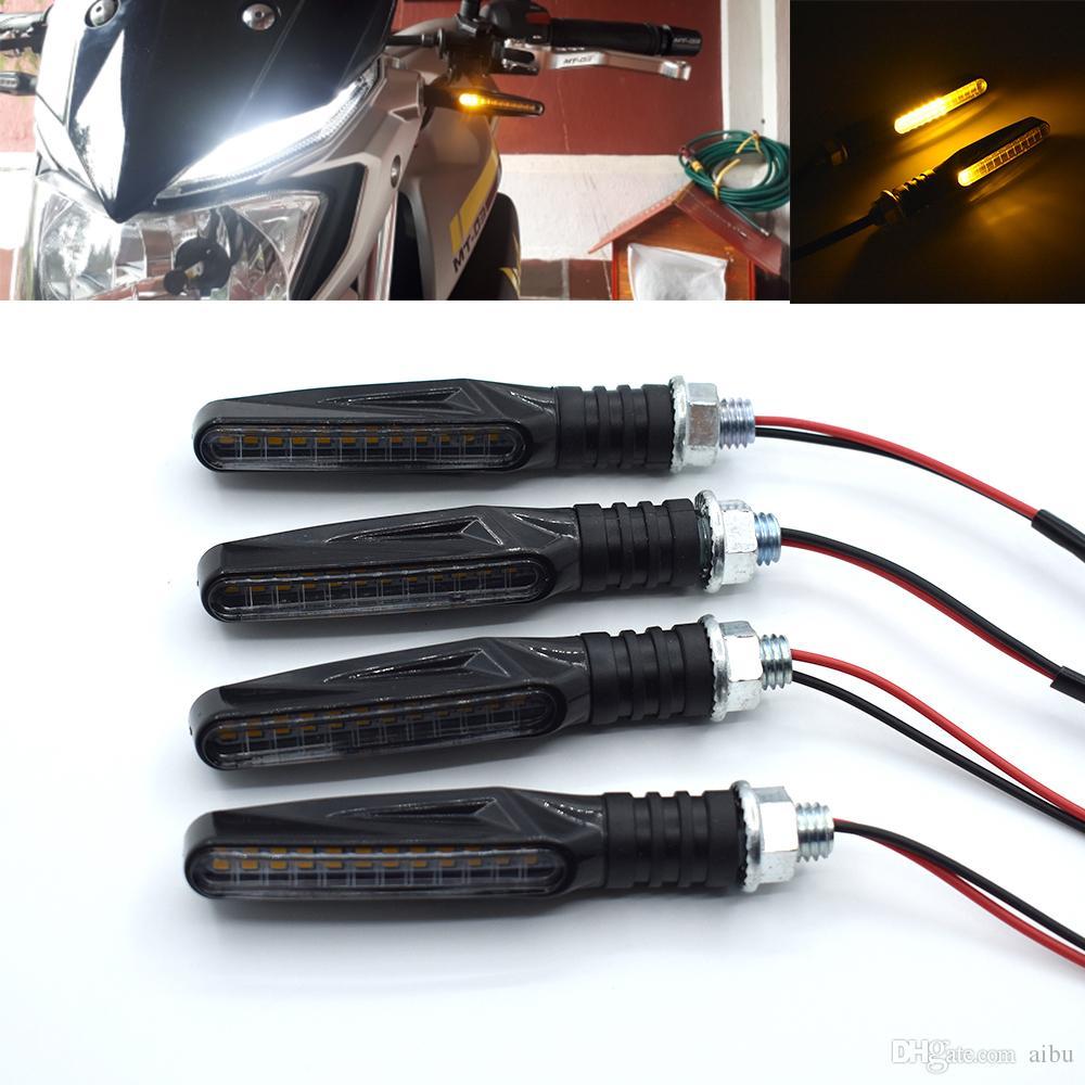 Per sfarfallio fluente led indicatori di direzione moto Luci lampeggianti moto clignotante PER DUCATI 1198 1199 1299 R S panigale PAUL SMART LE