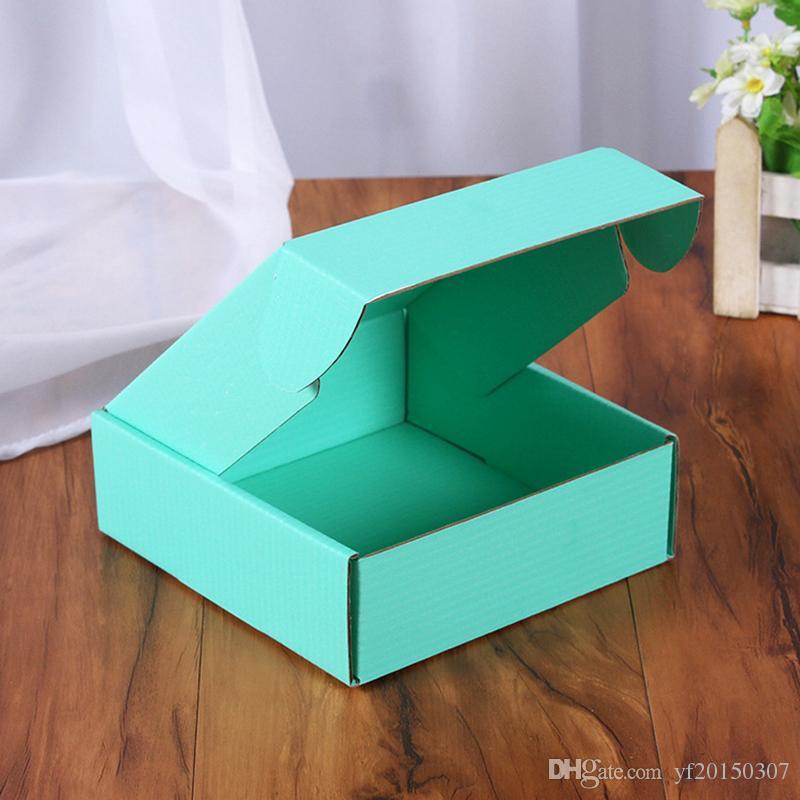 뜨거운 판매 골판지 종이 상자 컬러 선물 BoxJewelry가 골 판지 상자 15 * 15 * 5cm의 포장 포장 접는 상자 광장 포장