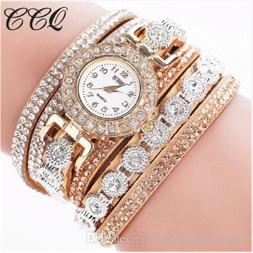 2019 Watch Women Bracelet Ladies Watch With Rhinestones Clock Womens Vintage Fashion Dress Wristwatch Relogio Feminino Gift