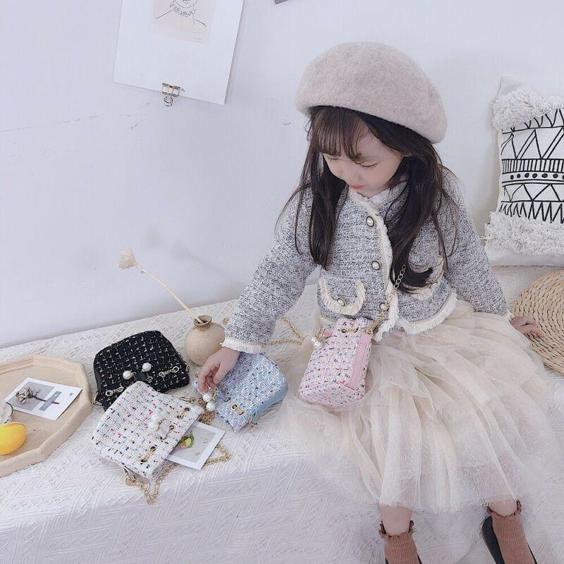 Girls Kids Fashion Pearl Shoulder Bag Princess Mini Handbag Crossbody Bag
