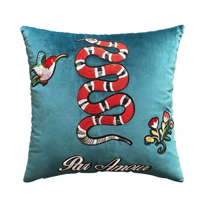 Super progettista di lusso ricamo Signage G cuscino cuscino 45 * 45cm e 30 * 50cm casa e la decorazione creativa di regalo di Natale nuova arrive2020