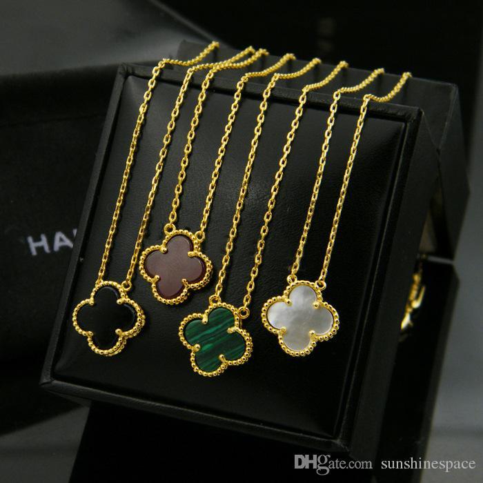 2019 المرأة الجديدة قلادة مطلية بالذهب زهرة تصميم 4 ألوان زفاف نيكلس للهدايا