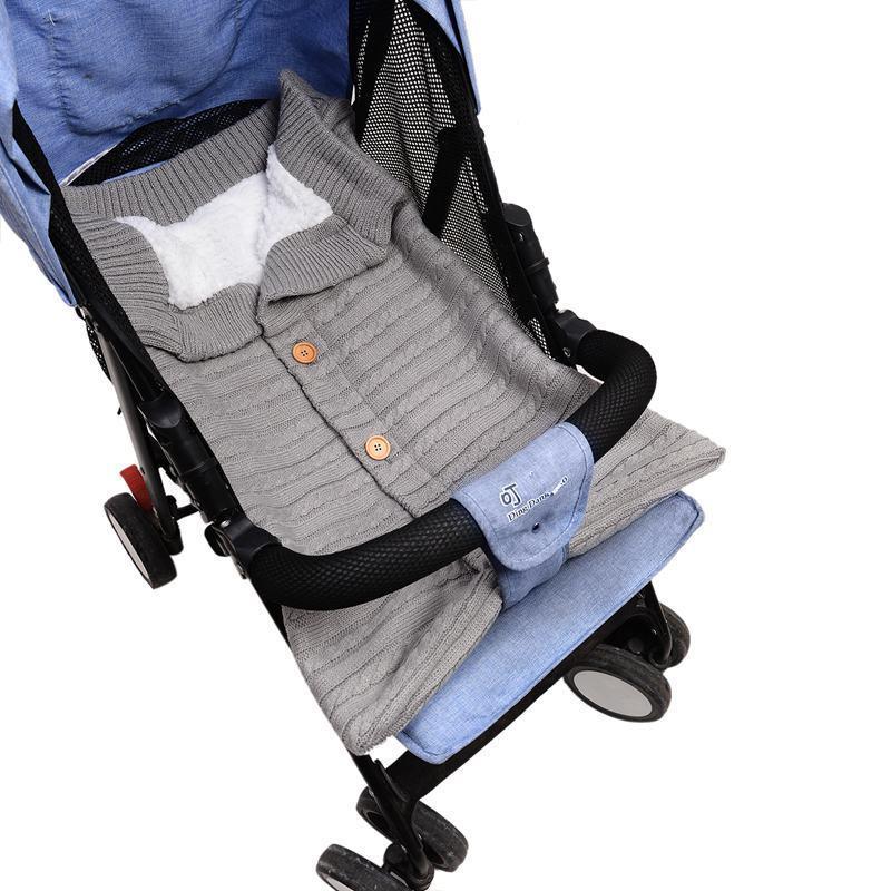 Yeni Doğan Bebek Kundaklama Battaniye Wrap, Örme Sıcak Polar Battaniye Kundaklama 0-12 Ay Bebek İçin Çanta Uyku Çuval Arabası Wrap Sleeping