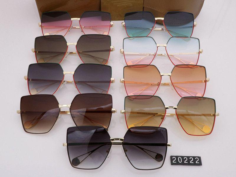 Gafas de sol populares de Lujo 20222S Mujeres Diseñador de la Marca Cuadrado Estilo de Verano Marco Completo de Calidad Superior Protección UV Color Mezclado
