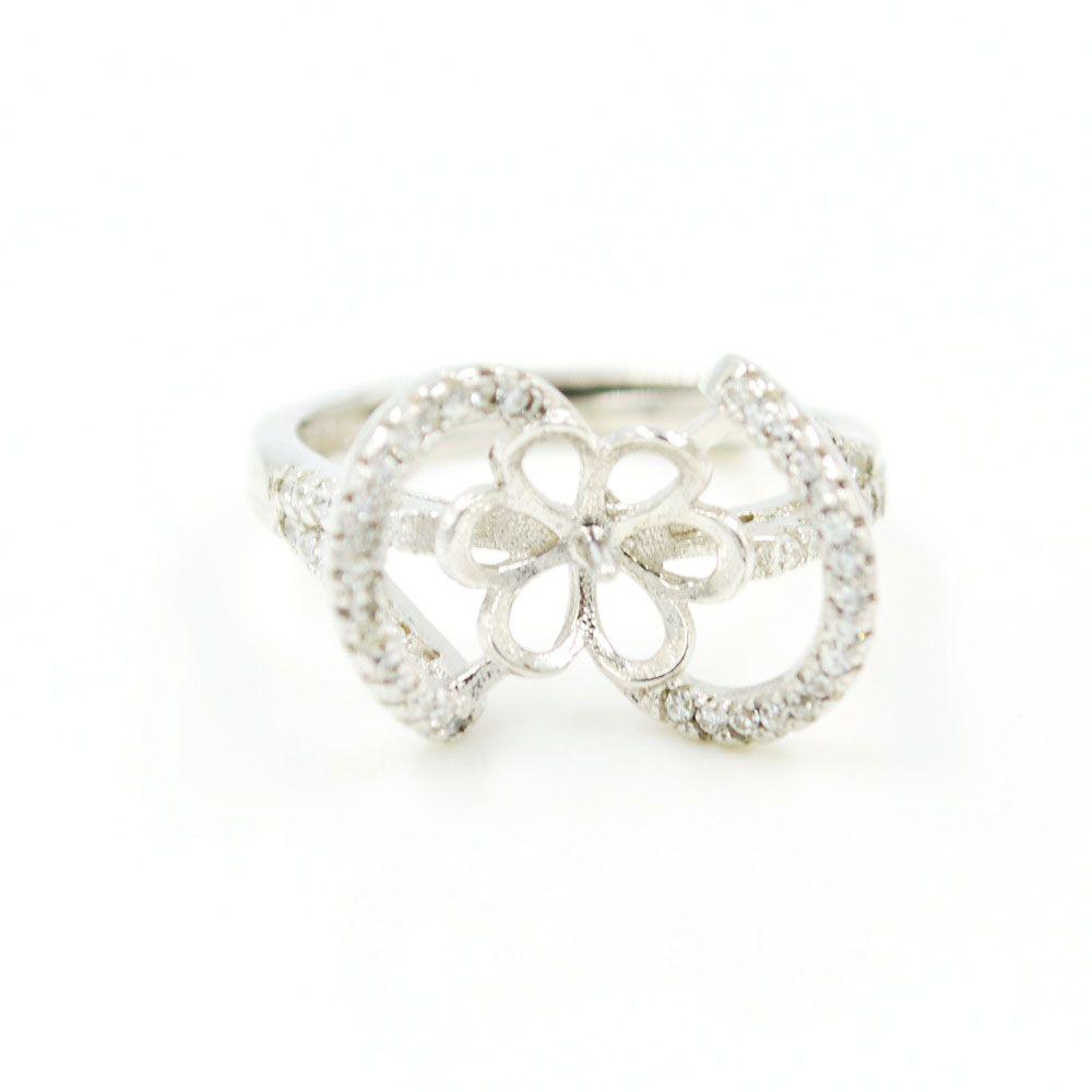 Оптовая продажа S925 стерлингового серебра кольцо монтаж Циркон кольцо крепления для женщин ювелирные изделия из жемчуга diy бесплатная доставка регулируемый открытие кольцо