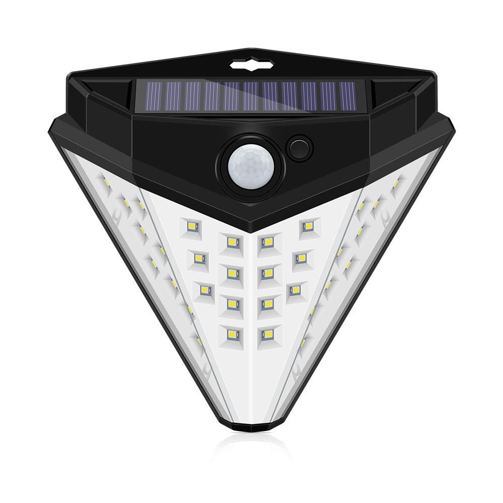 Brelong 32 LED 태양 빛, 새로운 세대 모션 센서 야외 빛, 270 ° 와이드 앵글 태양 빛, IP65 방수 무선 벽 조명