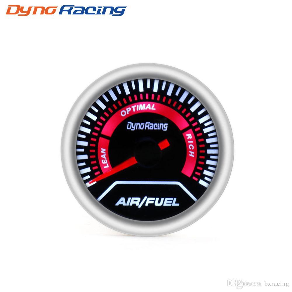 """Датчик расхода воздуха Dynoracing 2 """"52 мм Дымовая линза Датчик уровня топлива воздуха Супер яркий светодиодное освещение Автомобильный счетчик"""
