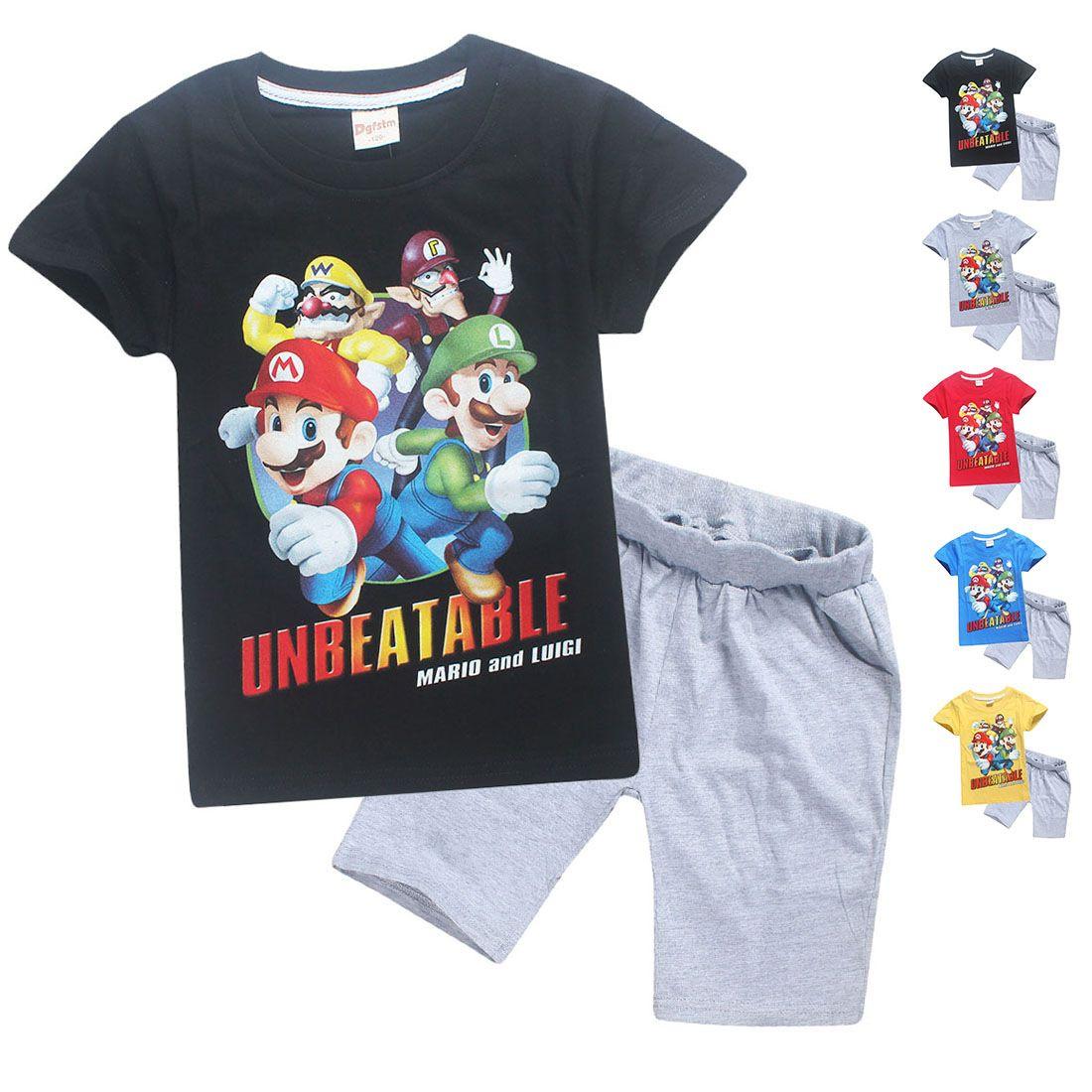 Acheter Vetements De Marque Pour Enfants Super Mario Bros T Shirts