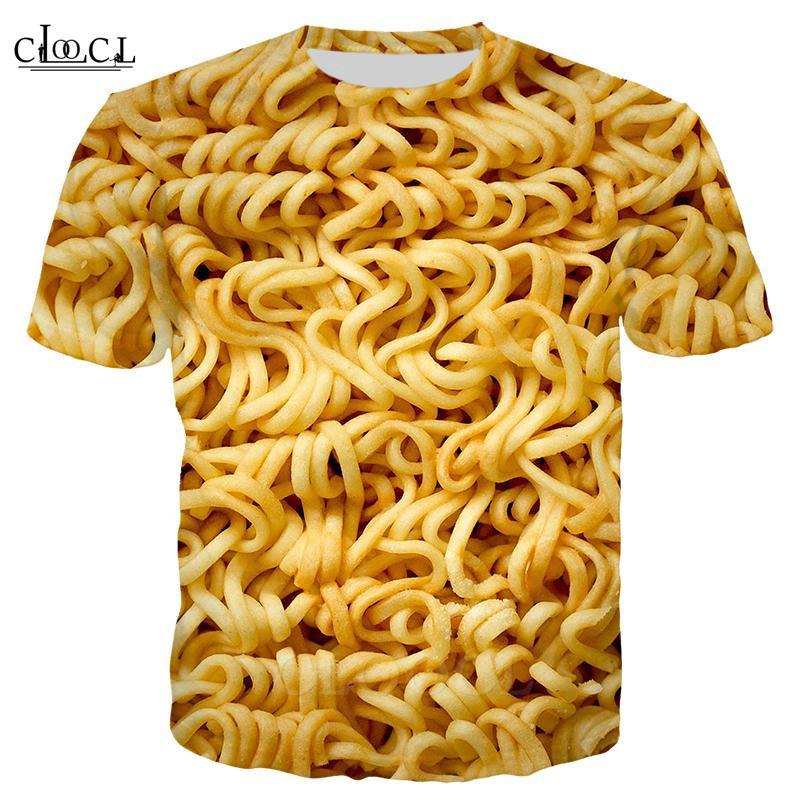 2020 Fashion Street Gourmet Immediata Noodles T shirt Uomo Donna 3D Stampa Italiana manica corta casuale Ramen Top Streetwear Tee